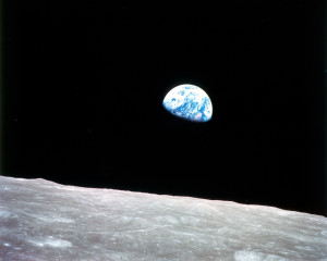 Earthrise photo taken by Bill Anders of Apollo 8 1968